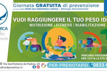 Giornata prevenzione nutrizione 29 settembre