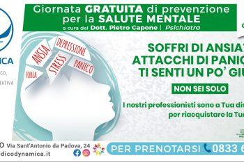 Giornata gratuita di prevenzione per la salute mentale